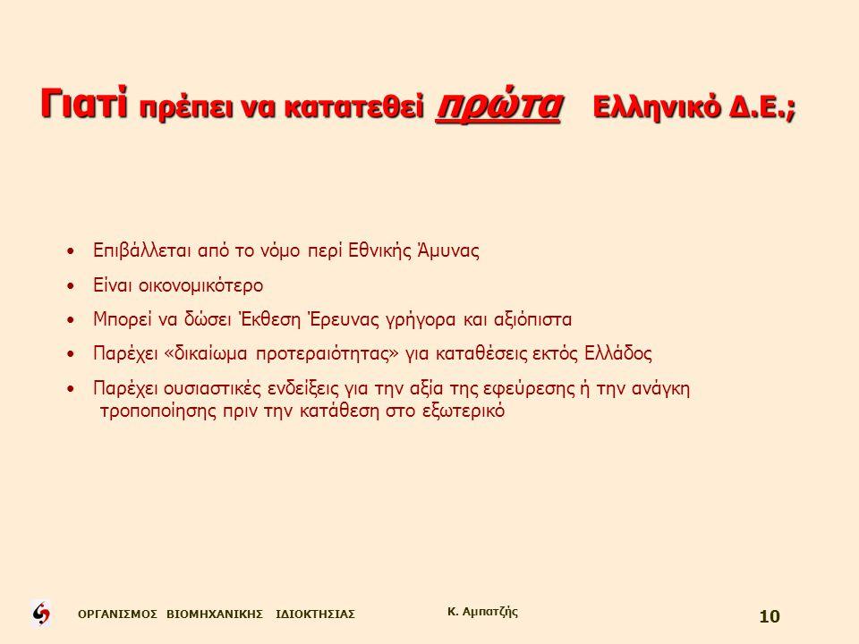 Γιατί πρέπει να κατατεθεί πρώτα Ελληνικό Δ.Ε.;