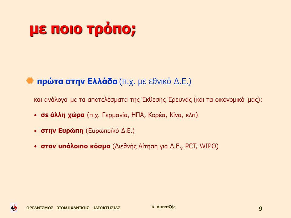 με ποιο τρόπο; πρώτα στην Ελλάδα (π.χ. με εθνικό Δ.Ε.)