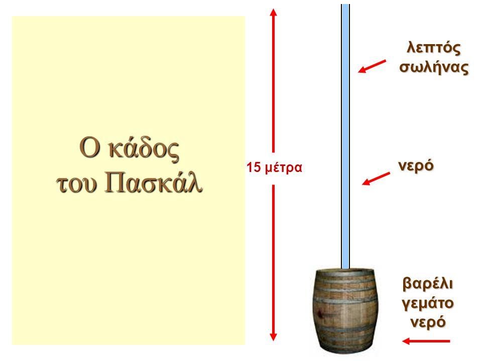 Ο κάδος του Πασκάλ λεπτός σωλήνας νερό 15 μέτρα βαρέλι γεμάτο νερό
