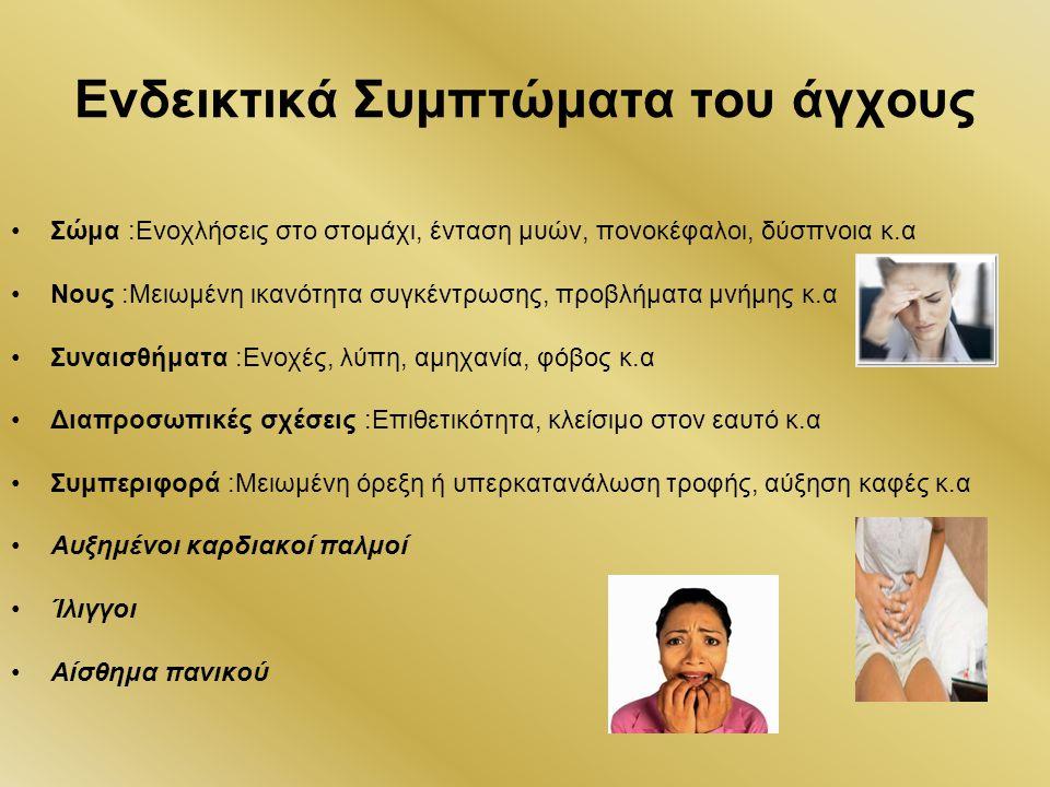 Ενδεικτικά Συμπτώματα του άγχους