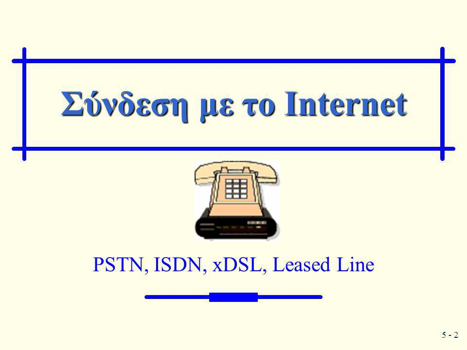 PSTN, ISDN, xDSL, Leased Line