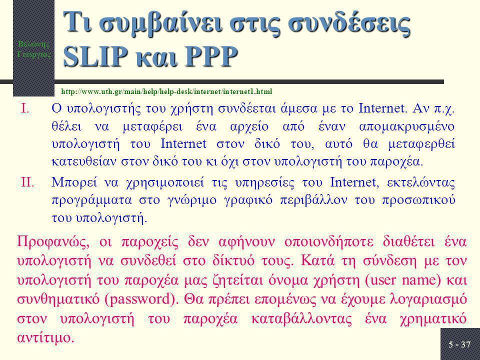 Τι συμβαίνει στις συνδέσεις SLIP και PPP