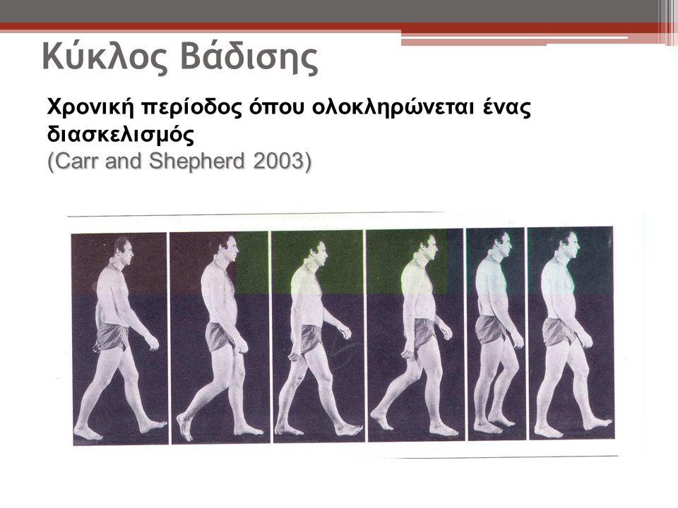 Κύκλος Βάδισης Χρονική περίοδος όπου ολοκληρώνεται ένας διασκελισμός