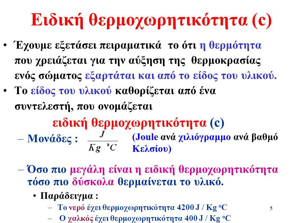 Ειδική θερμοχωρητικότητα (c)