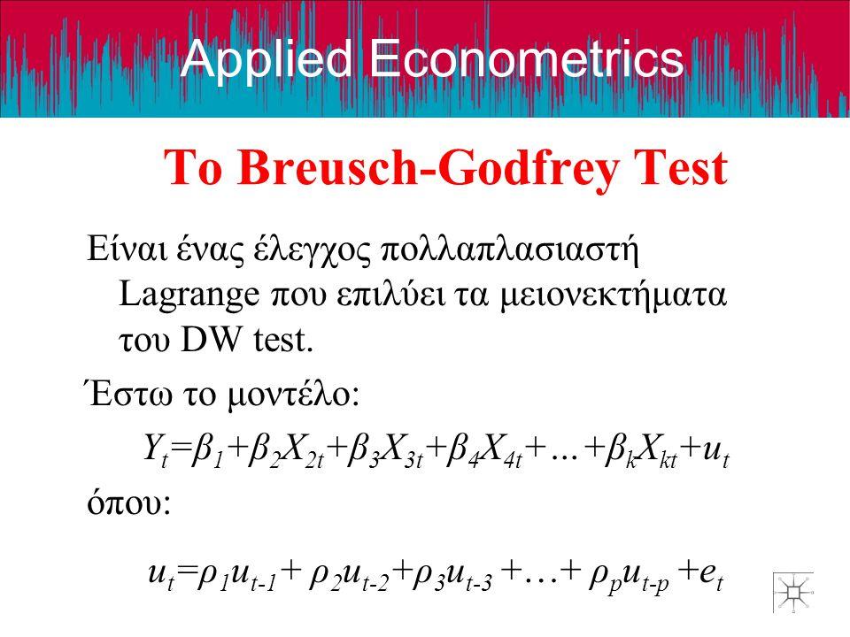 Το Breusch-Godfrey Test