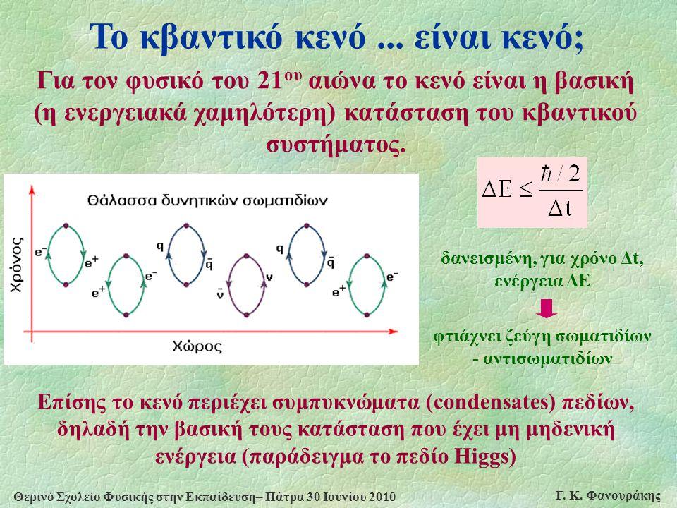 Το κβαντικό κενό ... είναι κενό;