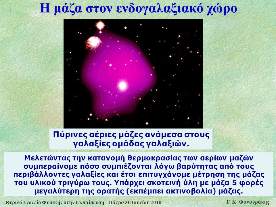 Η μάζα στον ενδογαλαξιακό χώρο