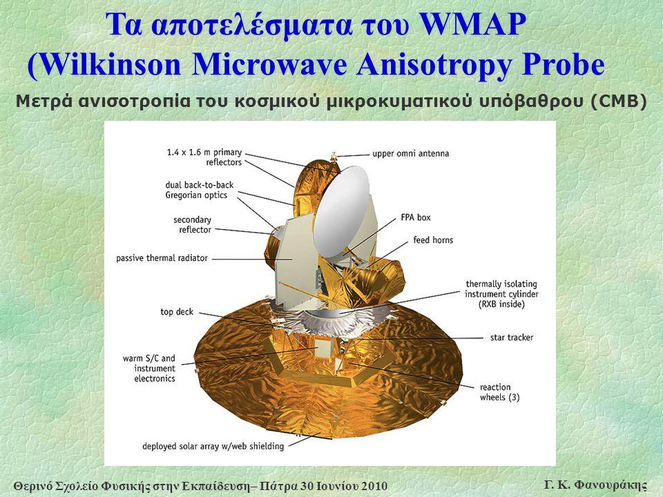 Τα αποτελέσματα του WMAP (Wilkinson Microwave Anisotropy Probe