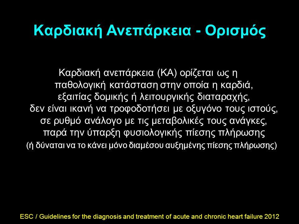 Καρδιακή Ανεπάρκεια - Ορισμός