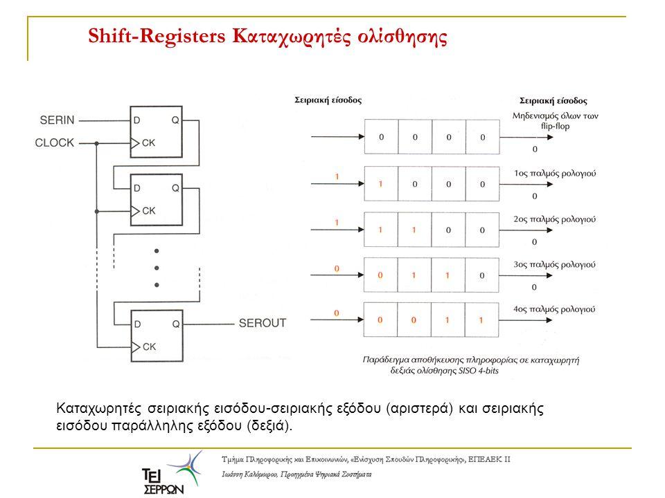 Shift-Registers Καταχωρητές ολίσθησης