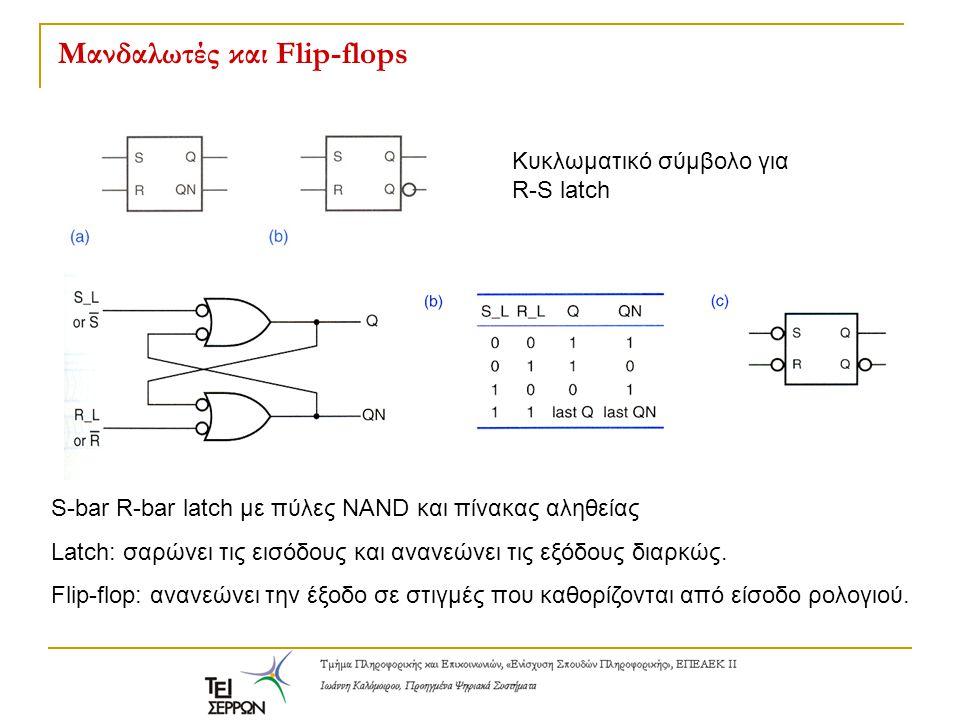Μανδαλωτές και Flip-flops