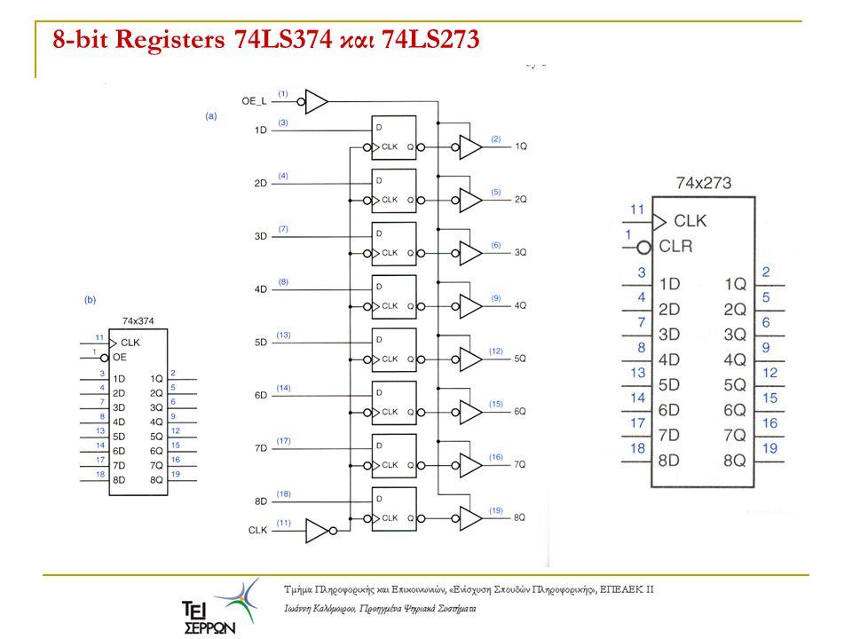 8-bit Registers 74LS374 και 74LS273