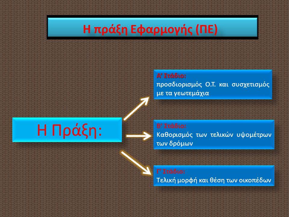 Η Πράξη: Η πράξη Εφαρμογής (ΠΕ) Α' Στάδιο: