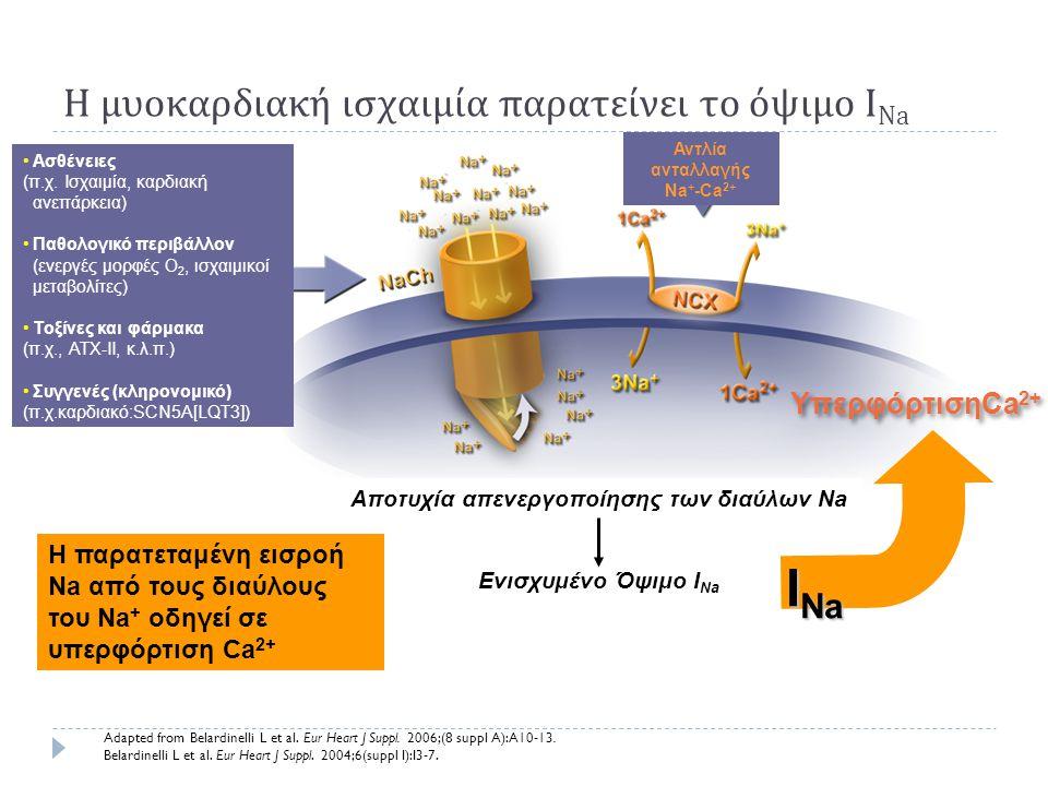 Η μυοκαρδιακή ισχαιμία παρατείνει το όψιμο INa