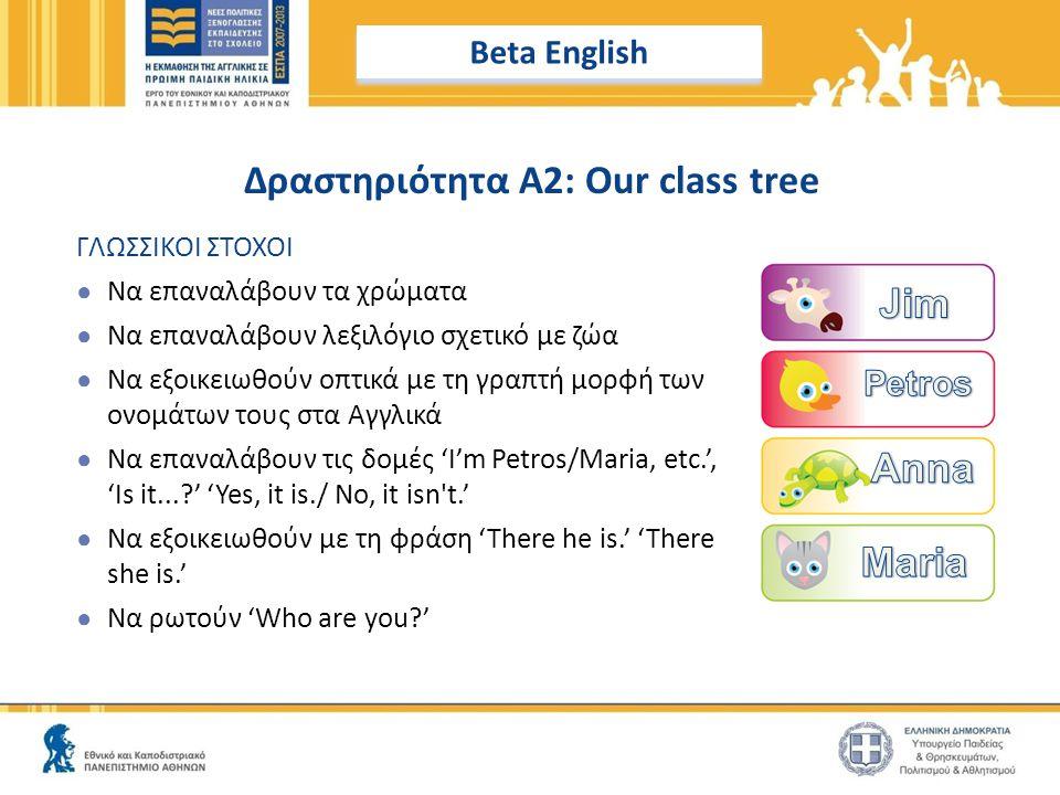 Δραστηριότητα A2: Our class tree