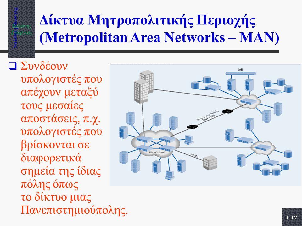 Δίκτυα Μητροπολιτικής Περιοχής (Metropolitan Area Networks – MAN)