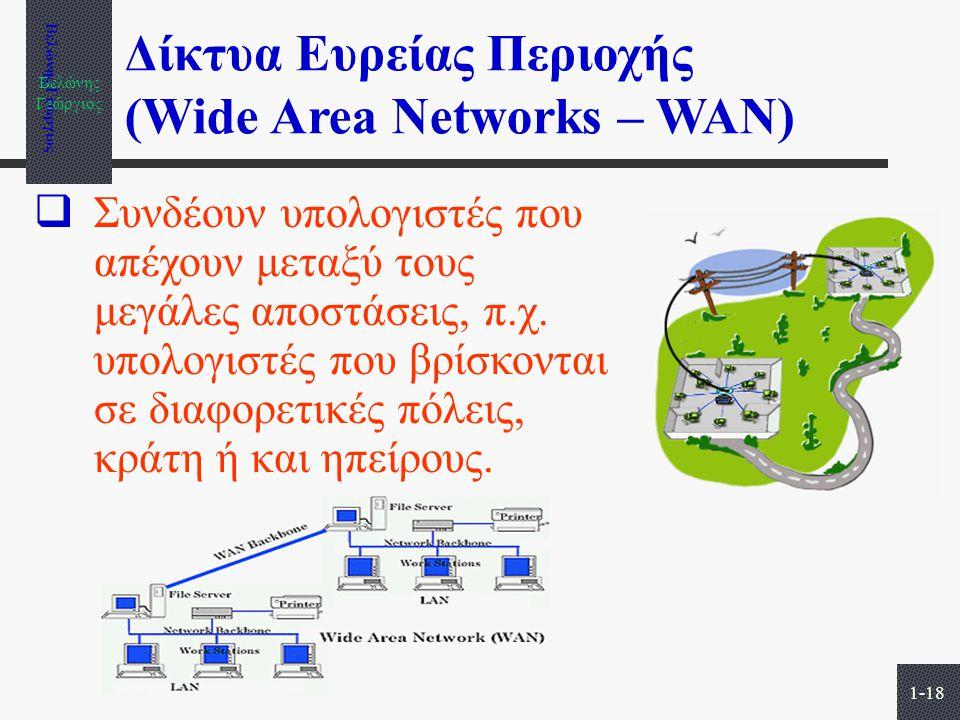 Δίκτυα Ευρείας Περιοχής (Wide Area Networks – WAN)