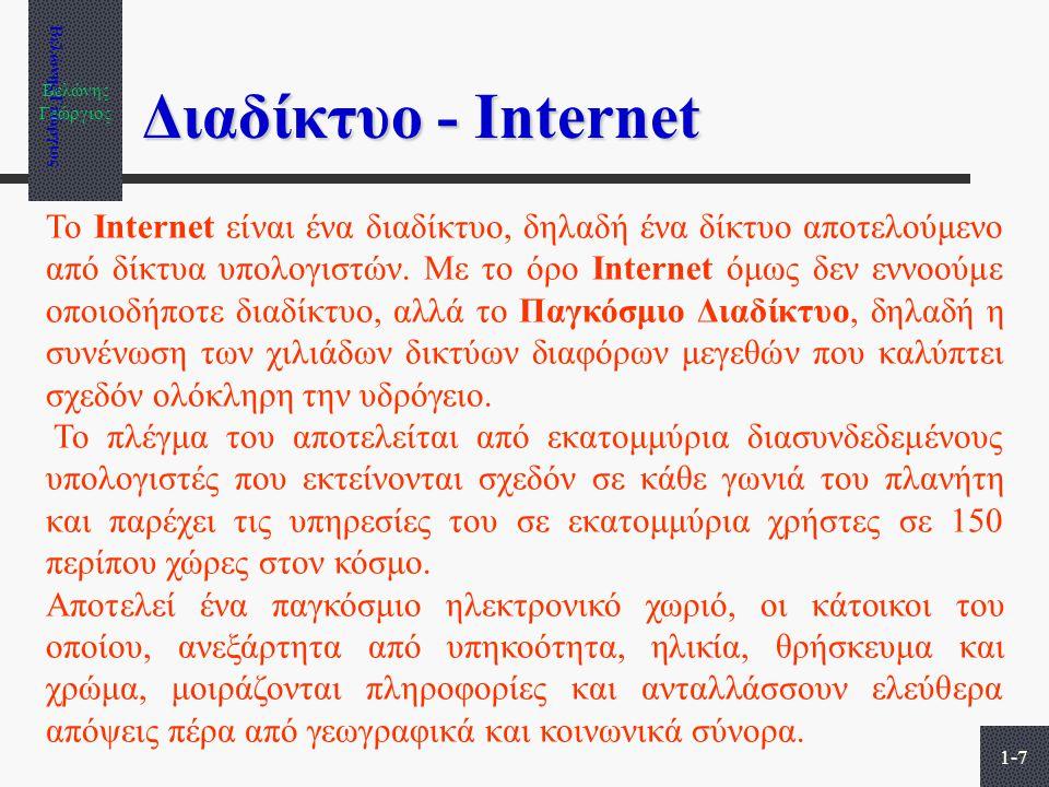 Βελώνης Γεώργιος Διαδίκτυο - Internet.