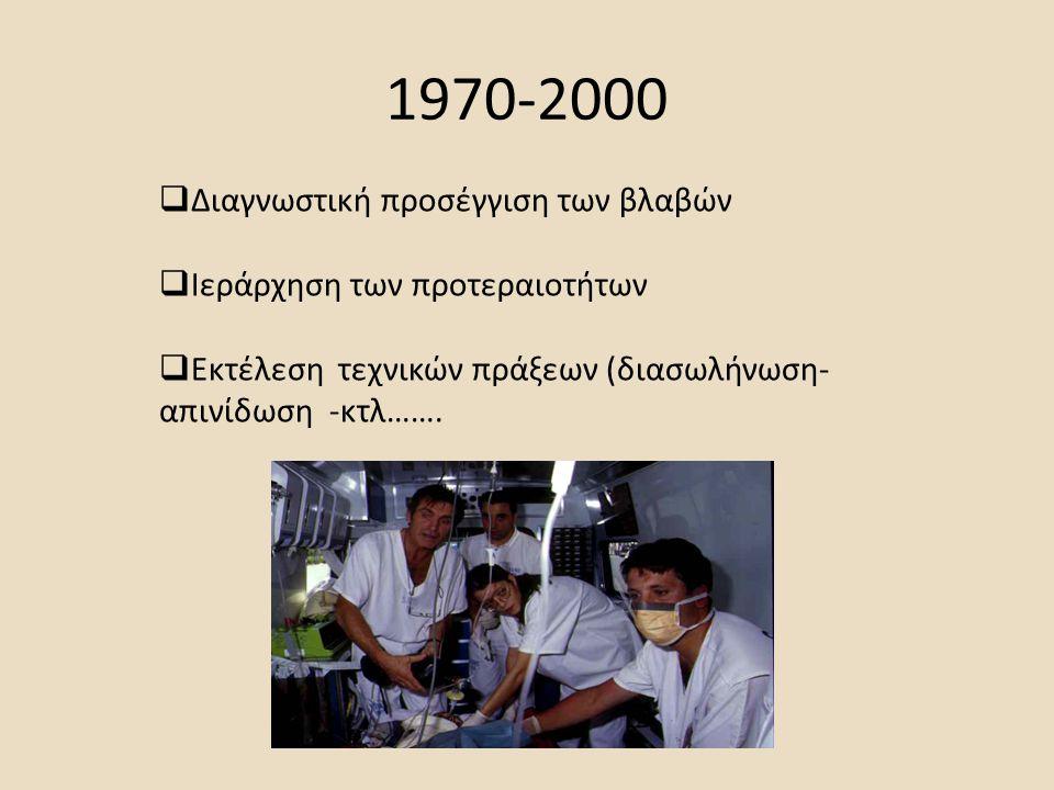 1970-2000 Διαγνωστική προσέγγιση των βλαβών