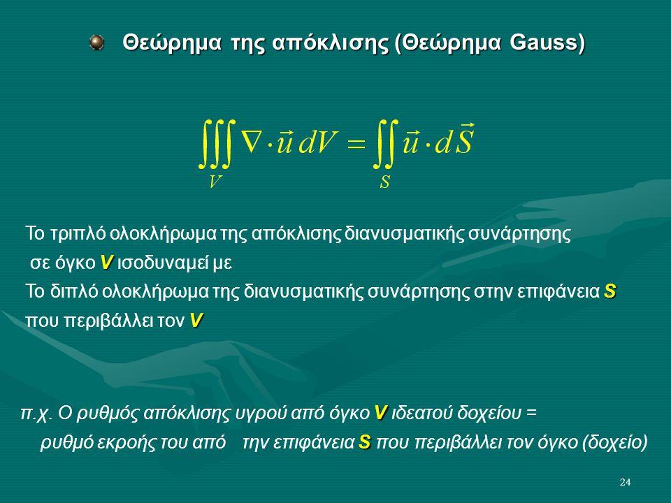 Θεώρημα της απόκλισης (Θεώρημα Gauss)