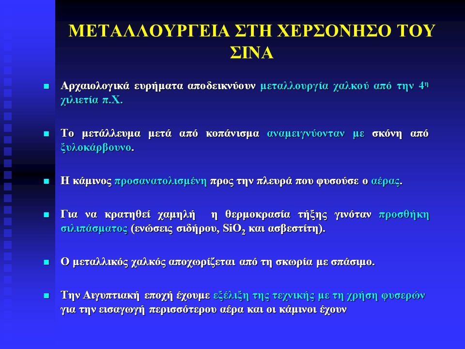 ΜΕΤΑΛΛΟΥΡΓΕΙΑ ΣΤΗ ΧΕΡΣΟΝΗΣΟ ΤΟΥ ΣΙΝΑ