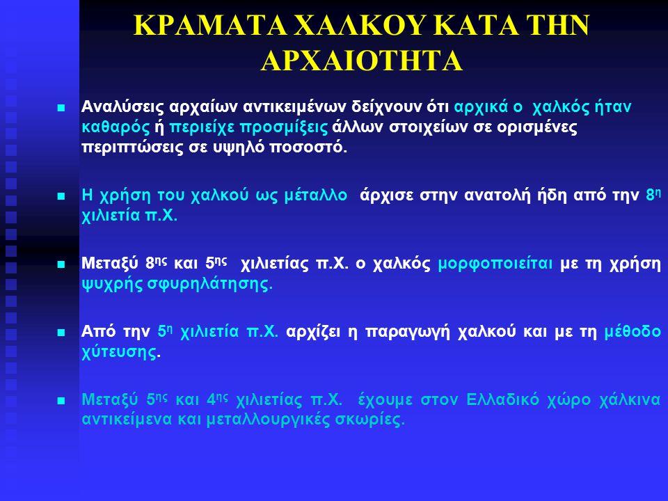 ΚΡΑΜΑΤΑ ΧΑΛΚΟΥ ΚΑΤΑ ΤΗΝ ΑΡΧΑΙΟΤΗΤΑ