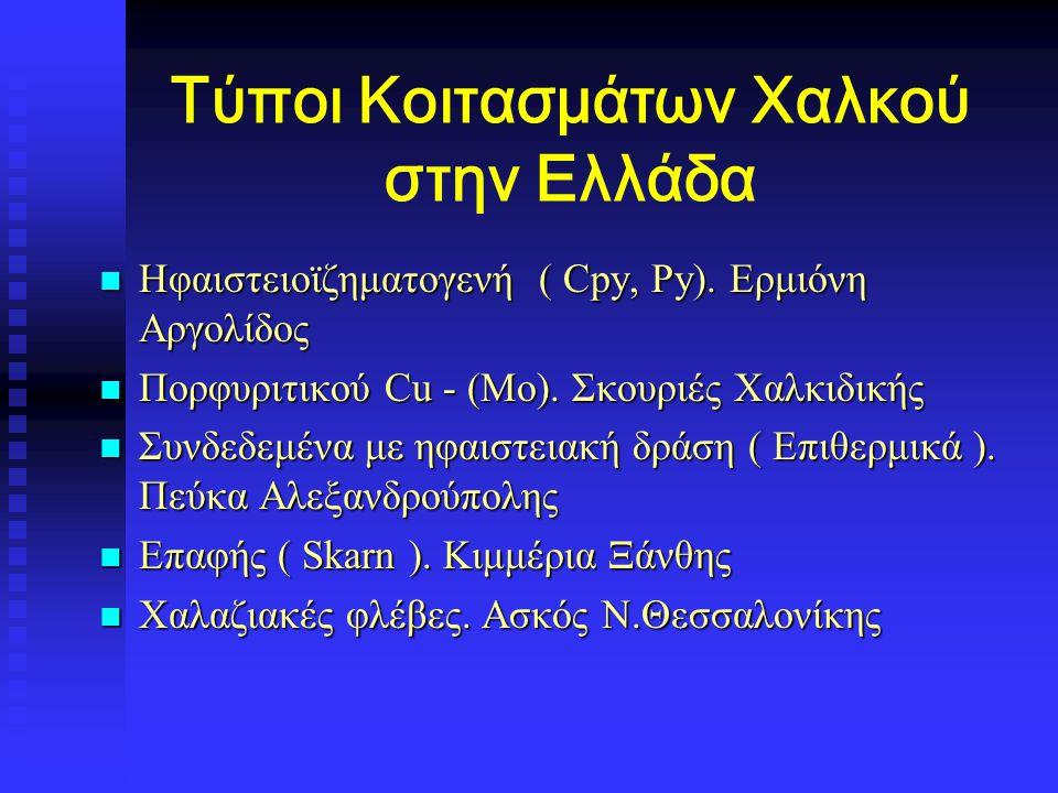 Τύποι Κοιτασμάτων Χαλκού στην Ελλάδα