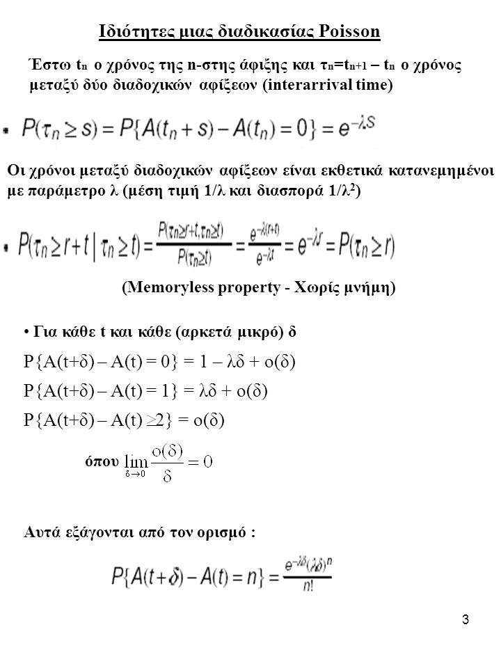 Ιδιότητες μιας διαδικασίας Poisson