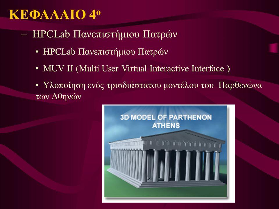 ΚΕΦΑΛΑΙΟ 4ο HPCLab Πανεπιστήμιου Πατρών