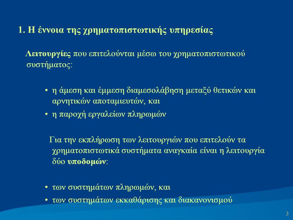 1. Η έννοια της χρηματοπιστωτικής υπηρεσίας