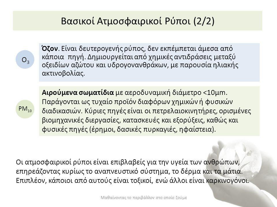 Βασικοί Ατμοσφαιρικοί Ρύποι (2/2)