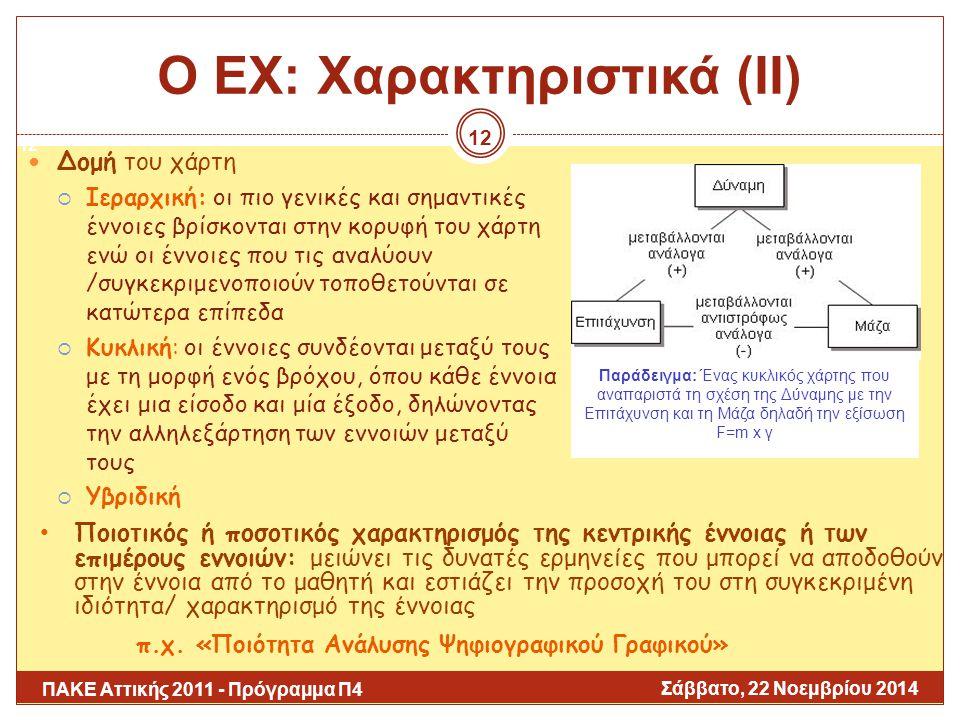 Ο ΕΧ: Χαρακτηριστικά (ΙΙ)