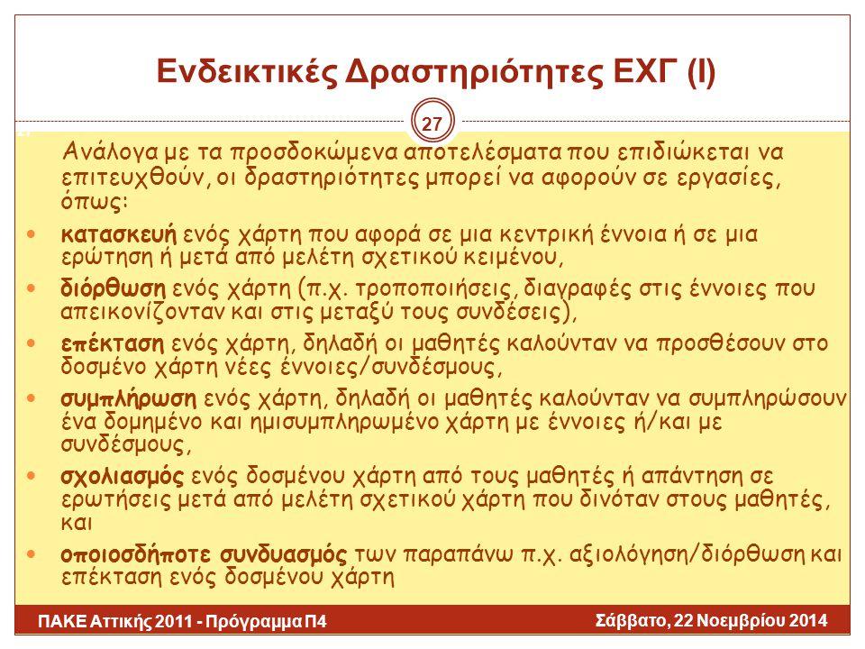 Ενδεικτικές Δραστηριότητες ΕΧΓ (Ι)