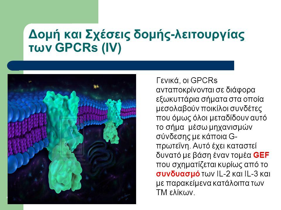 Δομή και Σχέσεις δομής-λειτουργίας των GPCRs (ΙV)