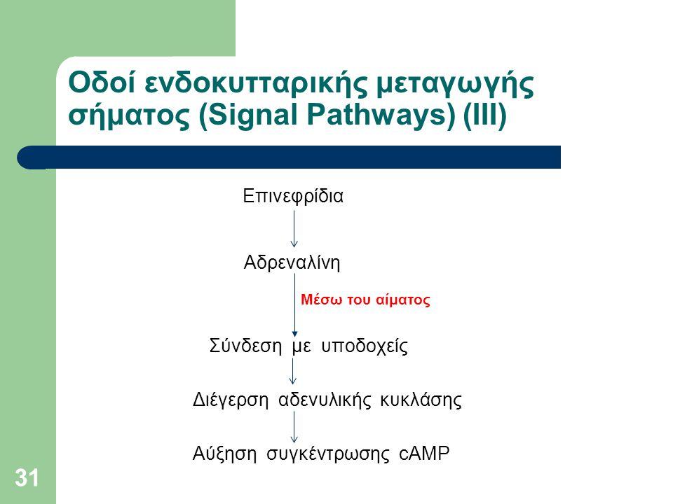 Οδοί ενδοκυτταρικής μεταγωγής σήματος (Signal Pathways) (ΙIΙ)