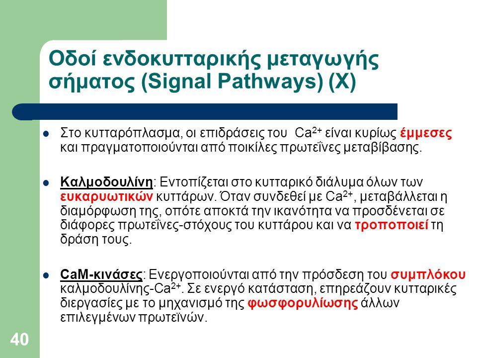 Οδοί ενδοκυτταρικής μεταγωγής σήματος (Signal Pathways) (Χ)
