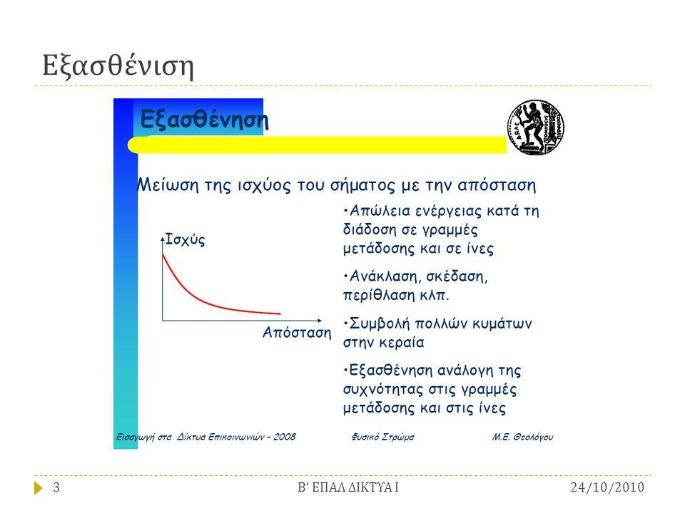 Εξασθένιση Β' ΕΠΑΛ ΔΙΚΤΥΑ Ι 24/10/2010
