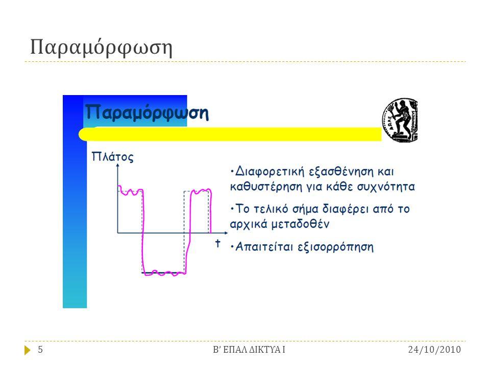 Παραμόρφωση Β' ΕΠΑΛ ΔΙΚΤΥΑ Ι 24/10/2010