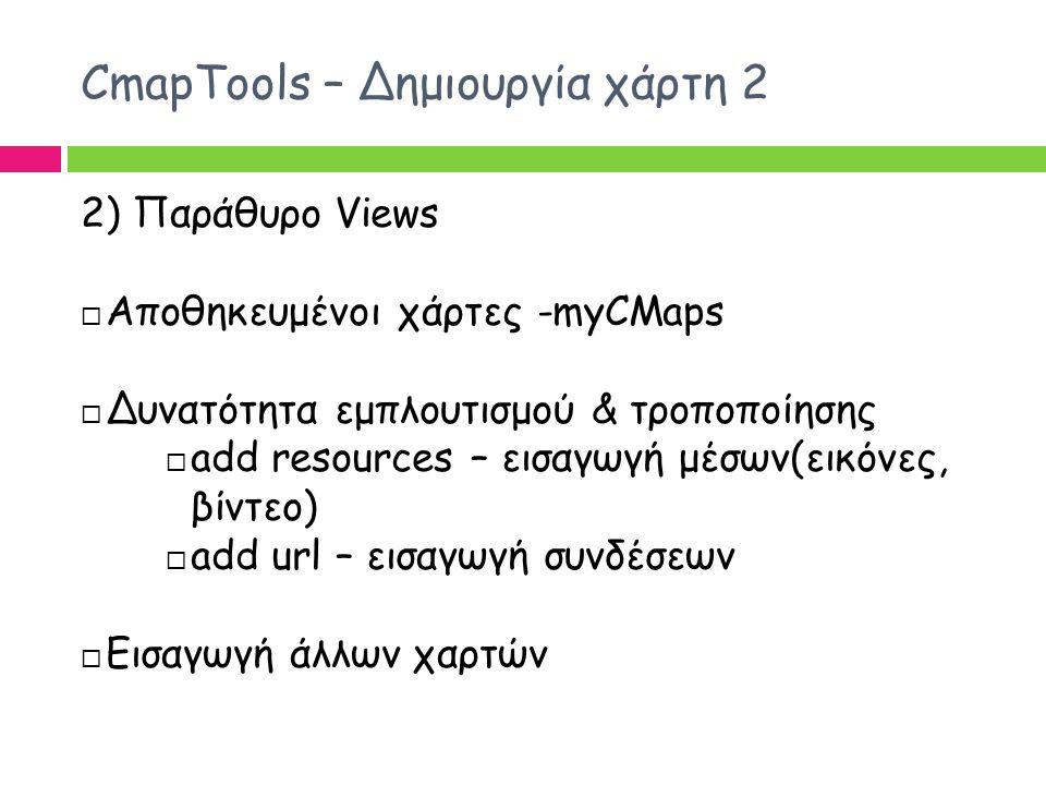 CmapTools – Δημιουργία χάρτη 2