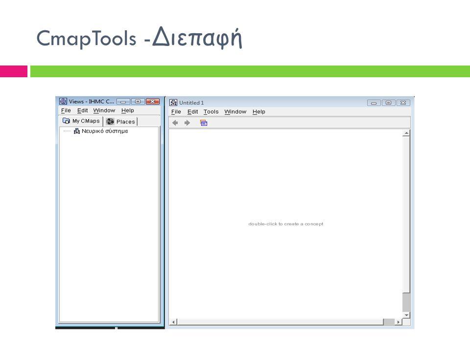 6 CmapTools -Διεπαφή