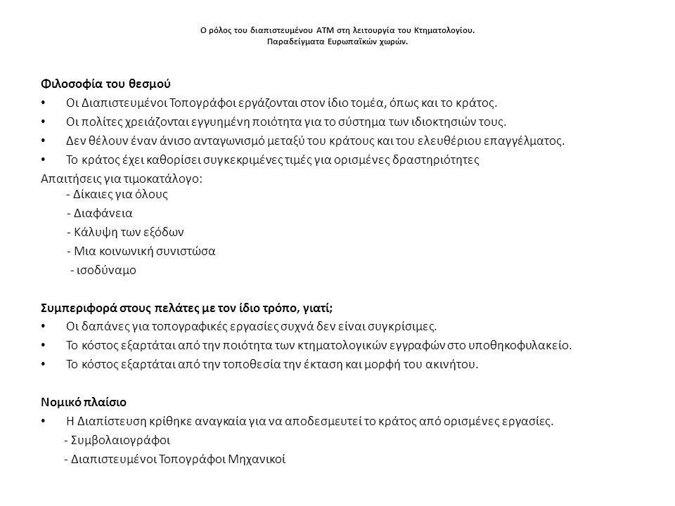 Απαιτήσεις για τιμοκατάλογο: - Δίκαιες για όλους - Διαφάνεια