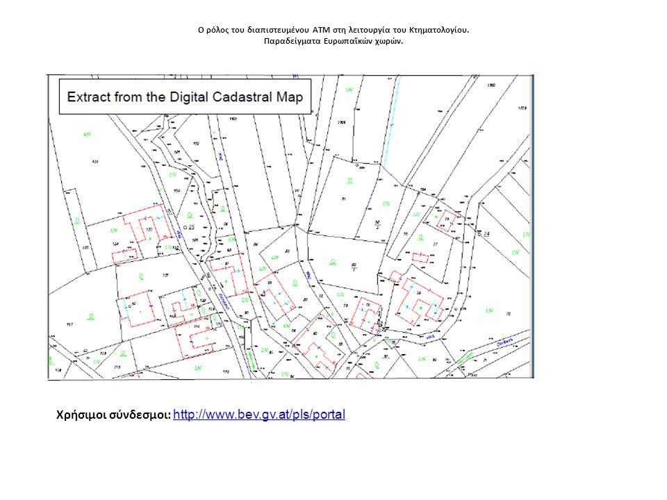 Χρήσιμοι σύνδεσμοι: http://www.bev.gv.at/pls/portal