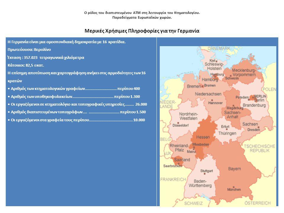 Μερικές Χρήσιμες Πληροφορίες για την Γερμανία