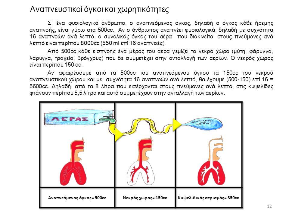 Αναπνευστικοί όγκοι και χωρητικότητες