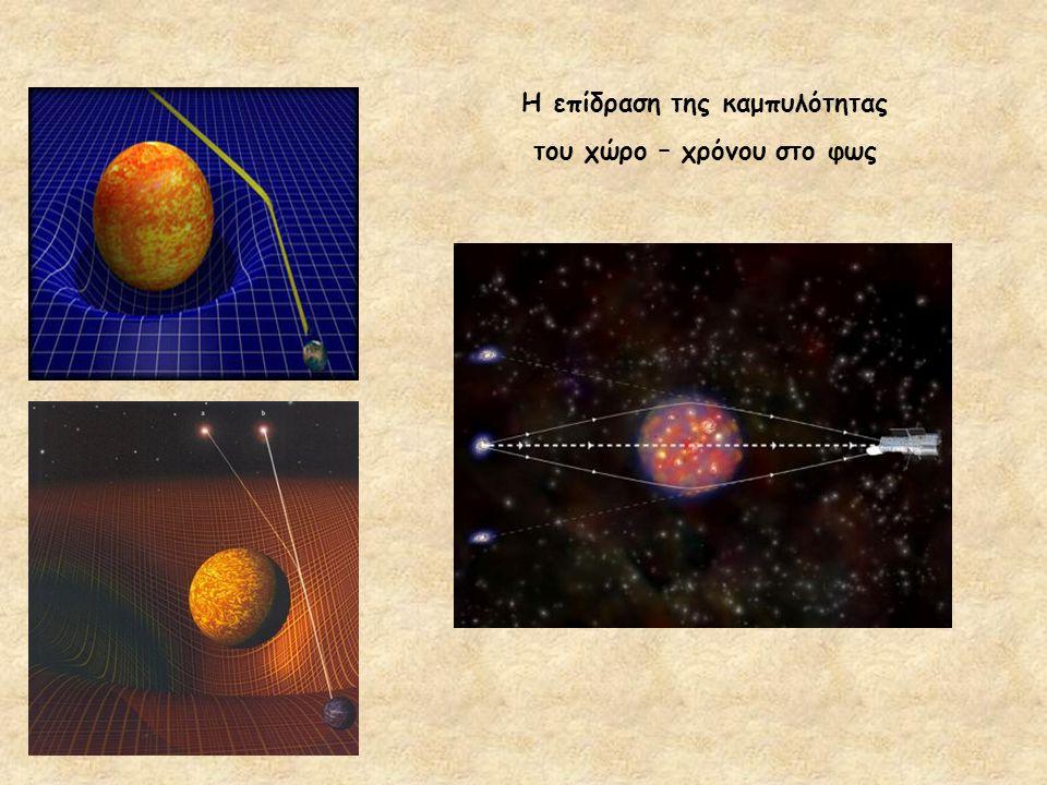 Η επίδραση της καμπυλότητας του χώρο – χρόνου στο φως
