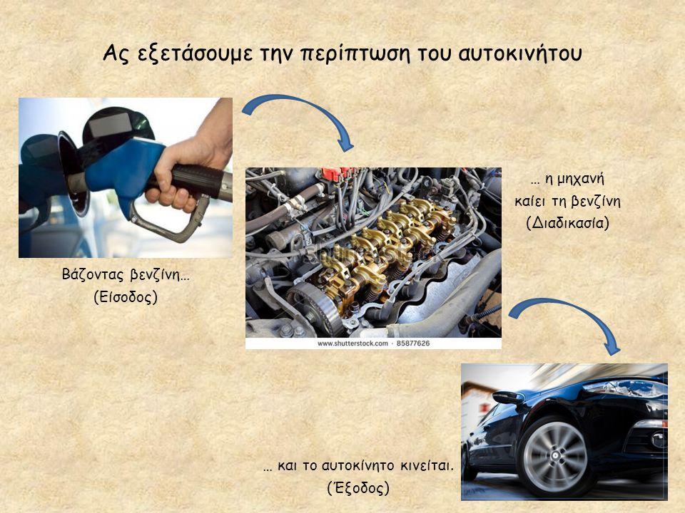 Ας εξετάσουμε την περίπτωση του αυτοκινήτου