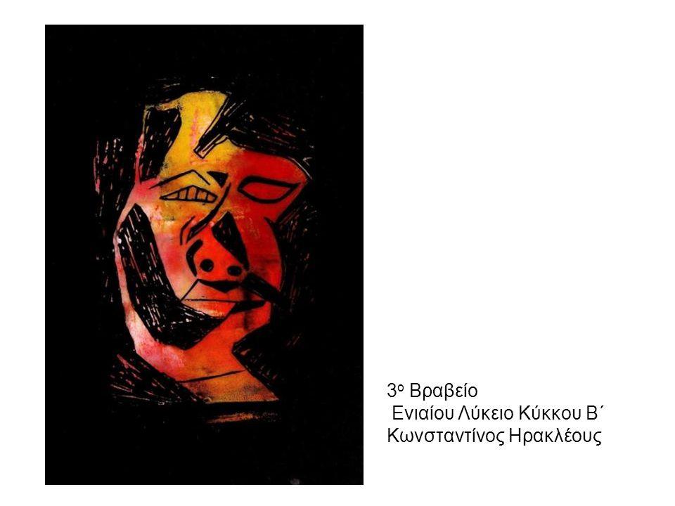 3ο Βραβείο Ενιαίου Λύκειο Κύκκου Β΄ Κωνσταντίνος Ηρακλέους
