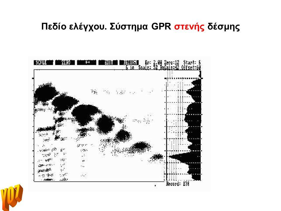 Πεδίο ελέγχου. Σύστημα GPR στενής δέσμης