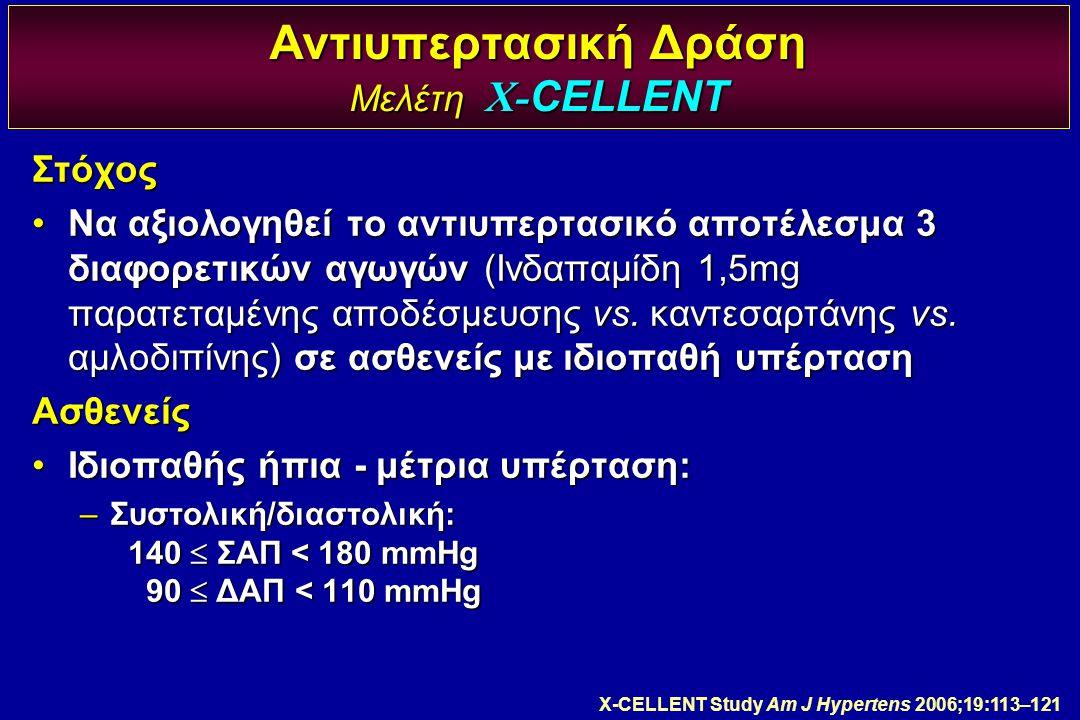 Αντιυπερτασική Δράση Μελέτη X-CELLENT