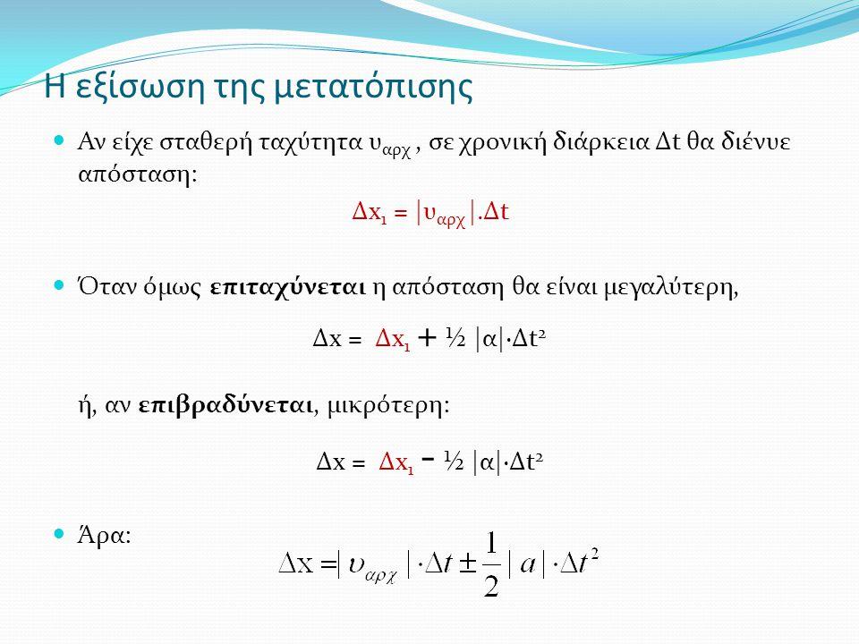 Η εξίσωση της μετατόπισης